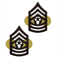 Vanguard ARMY CHEVRON: COMMAND SERGEANT MAJOR - BLACK METAL