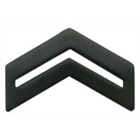 Vanguard ARMY ROTC CHEVRON: CORPORAL SENIOR DIVISION - BLACK METAL