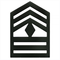 Vanguard ARMY ROTC CHEVRON: FIRST SERGEANT SENIOR DIVISION - BLACK METAL