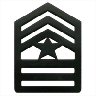 Vanguard ARMY ROTC CHEVRON: SERGEANT MAJOR SENIOR DIVISION - BLACK METAL