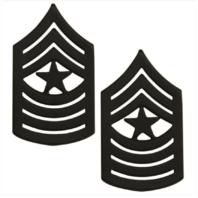 Vanguard MARINE CORPS CHEVRON: SERGEANT MAJOR - BLACK METAL, SOLID BRASS