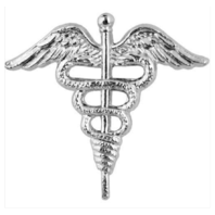 Vanguard NAVY COLLAR DEVICE: HOSPITAL CADUCEUS