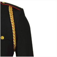 Vanguard MARINE CORPS SERVICE AIGUILLETTE - 4 STRAND GOLD AND RED