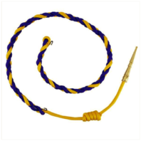 Vanguard CALIFORNIA HIGHWAY PATROL AIGUILLETTE: ROYAL BLUE/GOLD WITH BRASS TIP