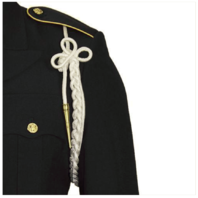 Vanguard ARMY SHOULDER CORD: 2720 WHITE RAYON WITH BRASS TIP