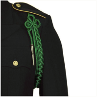 Vanguard ARMY SHOULDER CORD: 2720 KELLY GREEN RAYON WITH SILVER TIP