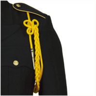 Vanguard ARMY SHOULDER CORD: 2720 LITE GOLD RAYON WITH SILVER TIP