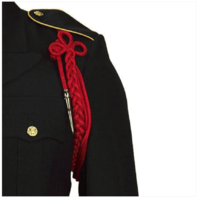 Vanguard ARMY SHOULDER CORD: 2720 SCARLET RED RAYON WITH SILVER TIP