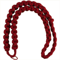 Vanguard NS / NLCC SHOULDER CORD: 2723 INTERWOVEN SCARLET RED W/ SAFETY PIN