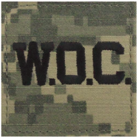Vanguard ARMY OFFICER BRANCH INSIGNIA: WOC LETTERS - EMBROIDERED ON ACU WITH HOOK