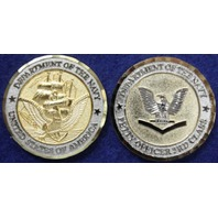 "Vanguard NAVY COIN: PETTY OFFICER 3C (E4) 1-1/2"""