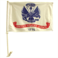 Vanguard CAR FLAG: ARMY - 11 BY 15 INCHES ON 19 INCHES POST