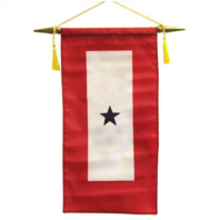 """Vanguard FLAG: MADE IN USA - SERVICE BANNER WITH ONE BLUE STAR 8"""" x 15"""""""