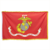 Vanguard MARINE CORPS FLAG WITH FRINGE