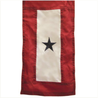Vanguard SERVICE FLAG BANNER WITH ONE BLUE STAR 3' x 5'