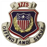 Vanguard ARMY CORPS CREST: ADJUTANT GENERAL - DEFEND AND SERVE 1775