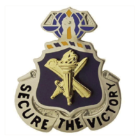 Vanguard ARMY CORPS CREST: CIVIL AFFAIRS - SECURE THE VICTORY