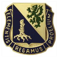 Vanguard ARMY CORPS CREST: CHEMICAL - ELEMENTIS REGAMUS PROELIUM