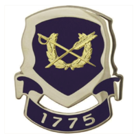 Vanguard ARMY CORPS CREST: JUDGE ADVOCATE - 1775