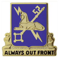 Vanguard ARMY CORPS CREST: MILITARY INTELLIGENCE - ALWAYS OUT FRONT
