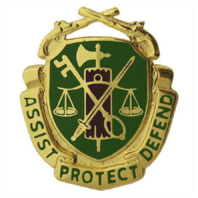 Vanguard ARMY CORPS CREST: MILITARY POLICE - ASSIST PROTECT DEFEND