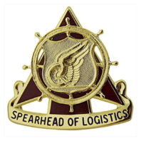 Vanguard ARMY CORPS CREST: TRANSPORTATION - SPEARHEAD OF LOGISTIC