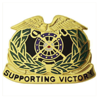 Vanguard ARMY CORPS CREST: QUARTERMASTER - SUPPORTING VICTORY