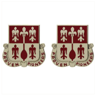 Vanguard ARMY CREST: 299TH ENGINEER BATTALION - PROVEN PIONEERS