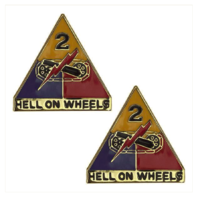 Vanguard ARMY CREST: SECOND ARMORED DIVISION - HELL ON WHEELS