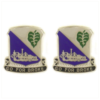 Vanguard ARMY CREST: 442ND INFANTRY REGIMENT - GO FOR BROKE