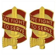 Vanguard ARMY CREST: 45TH SUSTAINMENT BRIGADE - WE FIGHT TO SERVE