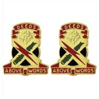 Vanguard ARMY CREST: 108TH AIR DEFENSE ARTILLERY - DEEDS ABOVE WORDS