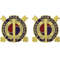 Vanguard ARMY CREST: 142ND SUPPORT BATTALION - SUPPORT FOR STRENGTH