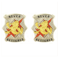 Vanguard ARMY CREST: 78TH SIGNAL BATTALION - NEVER BETTERED