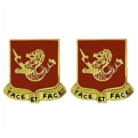 Vanguard ARMY CREST: 25TH FIELD ARTILLERY - TACE ET FACE
