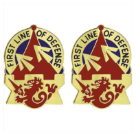 Vanguard ARMY CREST: 94TH AIR DEFENSE ARTILLERY - FIRST LINE OF DEFENSE