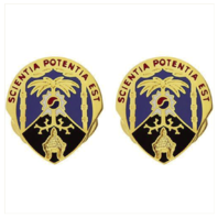 Vanguard ARMY CREST: 500TH MILITARY INTELLIGENCE BRIGADE - SCIENTIA POTENTIA EST
