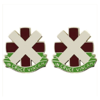 Vanguard ARMY CREST: 10TH SURGICAL HOSPITAL - IN CRUCE VINCAM