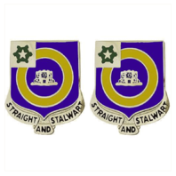 Vanguard ARMY CREST: 41ST INFANTRY REGIMENT - STRAIGHT AND STALWART