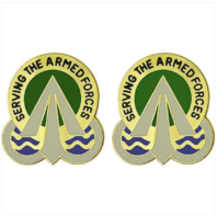 Vanguard ARMY CREST MILITARY SURFACE DEPLOYMENT COMMAND SERVING  ARMED FORCES