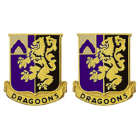 Vanguard ARMY CREST: 48TH INFANTRY REGIMENT - DRAGOONS