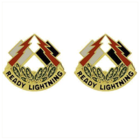 Vanguard ARMY CREST: 335TH SIGNAL COMMAND - READY LIGHTNING
