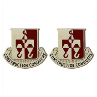 Vanguard ARMY CREST: 244TH ENGINEER BATTALION - CONSTRUCTION CONQUERS