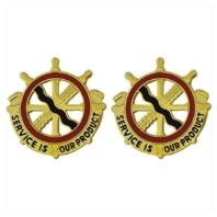 Vanguard ARMY CREST: 24TH TRANSPORTATION BATTALION - SERVICE IS OUR PRODUCT