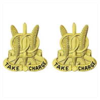 Vanguard ARMY CREST: 97TH MILITARY POLICE BATTALION - TAKE CHARGE