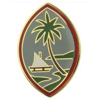 Vanguard ARMY COMBAT SERVICE IDENTIFICATION BADGE GUAM ARMY NATIONAL GUARD
