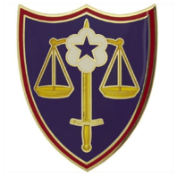 Vanguard ARMY COMBAT SERVICE IDENTIFICATION BADGE (CSIB): TRIAL DEFENSE SERVICE
