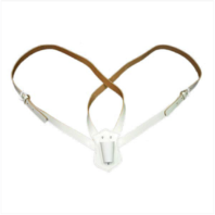 Vanguard FLAG CARRIER: WHITE LEATHER - DOUBLE STRAP