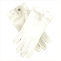 Vanguard GLOVES: SNAP WRIST GLOVES - WHITE COTTON - LARGE
