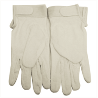 Vanguard GLOVES: WHITE COTTON WITH HOOK CLOSURE - XL